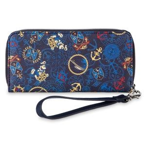 Captain Mickey Mouse Wristlet Wallet NWOT